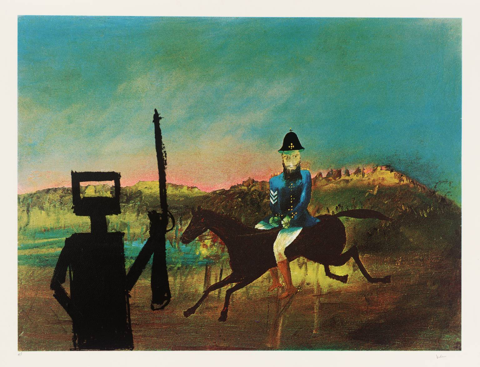 The Evening 1978-9 Sir Sidney Nolan 1917-1992 Presented by Rose and Chris Prater 1979 http://www.tate.org.uk/art/work/P05488