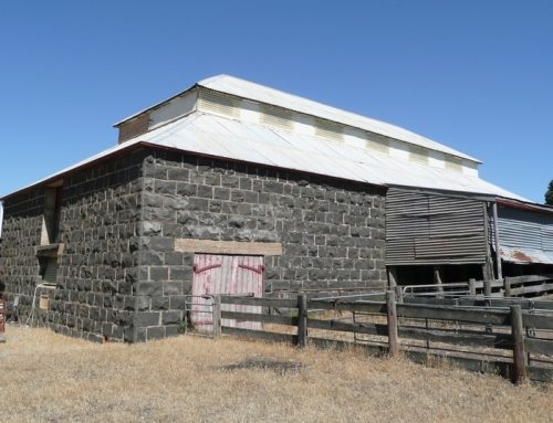 A stone woolshed standing the test of time