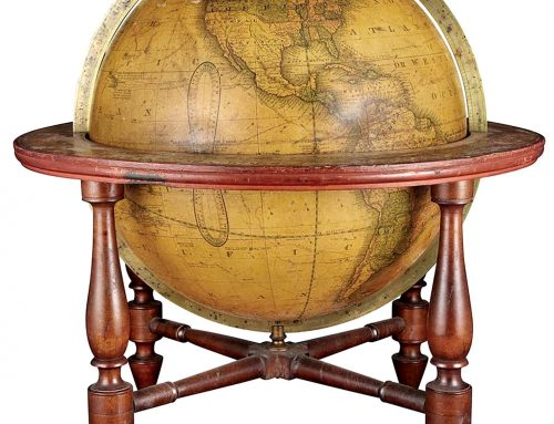 History snippet – pocket globes, keeping track of new lands.