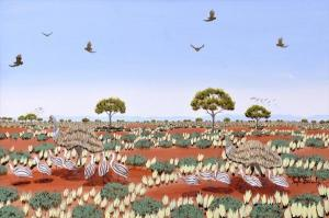 The naive art of Hugh Schulz & the Brushmen of the Bush.